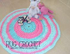 Lovely things: Tutorial tappeto crochet