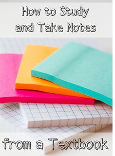 How To Study And Take Notes From A Text Book !