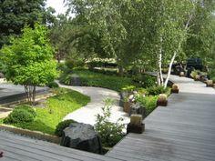 amenagement jardin moderne zen