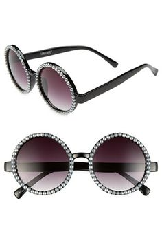 Leith 'Silver Pearl' Retro Sunglasses available at #Nordstrom