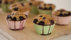 These vegan paleo banana blueberry muffins contain no soy, flour, or added sugar. High protein and low carb, not only guiltless but also good for you. Almond Muffins, Banana Blueberry Muffins, Blue Berry Muffins, Healthy Granola Bars, Homemade Granola Bars, Real Food Recipes, Baking Recipes, Vegan Recipes, Fruit Pancakes