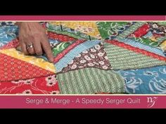 Nancy Zieman shows you how to make a quick quilt with the Baby Lock Evolution Serger, yes- a serger quilt!