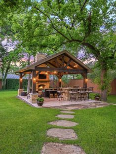 Outdoor Patio Kitchen Ideas - Outdoor Patio Kitchen Ideas, 12 Outdoor Kitchen Design Ideas and Al Fresco Backyard Pavilion, Backyard Patio Designs, Pergola Patio, Backyard Landscaping, Patio Ideas, Small Pergola, Modern Pergola, Pergola Designs, Backyard Projects