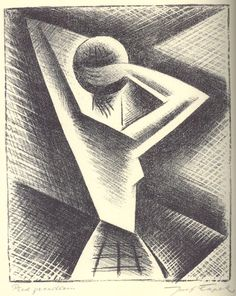 Josef Capek (my favorite) - In front of mirror 1918 via @PostArteCom #lithography http://bit.ly/13WnqvX