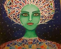 Alien - my acrylic painting on canvas