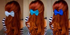 Red Red Red hair... I need a bow like this! :) and for my hair to get longerrrrr