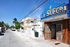 La Suegra de John Gray located on the beach, just north of the square and is open Tuesday through  Sunday from noon to 8 p.m. Credit cards are not accepted. For more information, phone 52-998-871-0774.