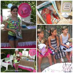 American Girl Back to School Tea Party. Party by @Zperfect Party  {Made by a Princess Parties in Style}