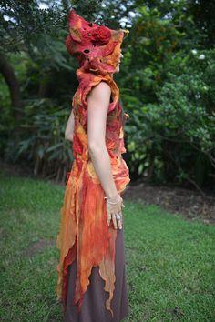 Nuno Felted Autumn Fairy Princess Maple Leaf Silk by frixiegirl & http://th00.deviantart.net/fs71/PRE/i/2011/287/9/9 ...