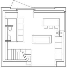 Maison Savioz in Giète-Délé, Ayent, Schweiz, Ferienhaus, savioz fabrizzi architectes, Zeichnung Grundriss Erdgeschoss