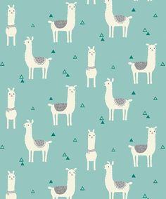 Llama on teal Snuggle flannel, By the Half Yard, wide, flannel fabric - llama fabric - animal fabric - teal fabric - nursery fabric Alpacas, Textures Patterns, Print Patterns, Fabric Patterns, Motifs Textiles, Cute Llama, Llama Llama, Nursery Fabric, Nursery Artwork