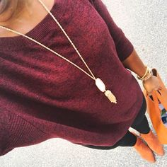 fall outfit with tunic sweater and leggings