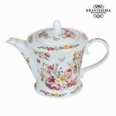 Teapot Porcelain 1 L - Kitchen's Deco Collection By Bravissima Kitchen