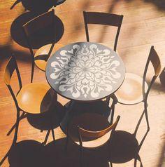 Floral Mandala Style Stencil - Furniture Stencil - Wall Painting Stencils