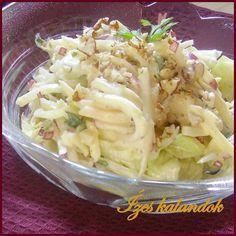 Téli saláta almával, retekkel, zellerrel Salad Shop, Cold Dishes, Hungarian Recipes, Healthy Life, Meal Prep, Cabbage, Sandwiches, Paleo, Food And Drink