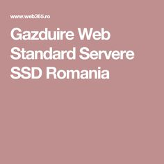 Gazduire Web Standard Servere SSD Romania