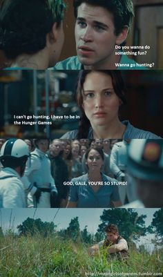 Love Katniss's face in the 3rd picture