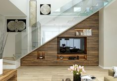 Room Under Stairs Room Under Staircase Living Room Under Stairs Brilliant Ideas For Utilizing The Space Under The Staircase Room Under Staircase Under Stairs Powder Room Ideas Home Stairs Design, Interior Stairs, Modern House Design, Home Interior Design, Living Room Under Stairs, Space Under Stairs, Under Staircase Ideas, Living Rooms, Staircase Storage