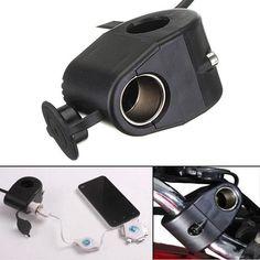 [US$5.02] 12V Motorcycle Cigarette Lighter Holder Power Socket For Phone MP3 GPS #motorcycle #cigarette #lighter #holder #power #socket #phone