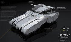 PLANETSIDE 2 Pre-Viz: M100 Lightning by ukitakumuki.deviantart.com on @deviantART