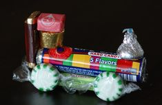 Candy Train: Just add the candy of your choice and a hot glue gun