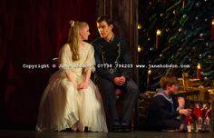 Clara (Karla Doorbar) with her dancing partner (Oliver Till) in Act 1 of Birmingham Royal Ballet's Nutcracker. Photo: Jane Hobson