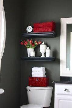 Small bathroom idea & colour scheme