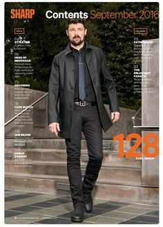 Karl Urban Holy moly! Suspect that man would look good in a bin bag!