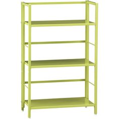 Workbox shelf.   Pop Up Green Folding Three-Shelf Bookcase in Bookcases, Cabinets | Crate and Barrel
