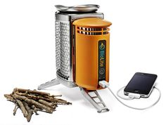 "Here's the Gear Junkie's 1st sneak peek at #ORshow 2012 gear: ""Power from Fire — The @BioLite CampStove turns heat from a fire into usable electricity, ready to charge an iPhone or GPS device in the wilds. You stuff wood inside the unit and light it, placing a cooking pot on top to heat water or food. The $130 unit also steals energy away from the burning wood and converts it to device-friendly power compatible with a USB plug."" via @Stephen Regenold"