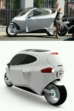 Lit Motors - An electric bike which looks like a car - Nidokidos Official Forum Custom Motorcycles, Cars And Motorcycles, Custom Bikes, Scooters, Lit Motors, How To Clean Headlights, E Mobility, Unique Cars, Mini Bike