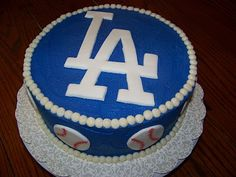 dodgers, perfect b-day cake for dad!