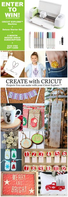 Enter to Win a Cricut Explore bundle, 6 month subscription to Design Space AND a $235 VISA Gift Card