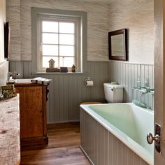 Bathroom with tongue and groove panelling | Traditional bathroom design ideas | Bathroom | PHOTO GALLERY | Housetohome.co.uk