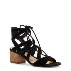 d4c6a23ca07a black sandals with medium heel Lace Up Sandals