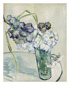 Vincent Van Gogh - Still Life, Vase of Carnations - Art Print