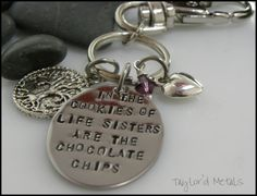 hand stampedsisterin the cookies of life sisters by TaylordMetals, $20.00