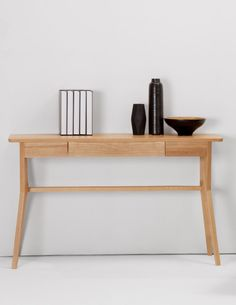 It's handcrafted using traditional methods. And the quality's evident from the solid oak, which is coated with lacquer to make it even more robust. £299 | MADE.COM
