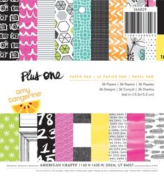 Plus One Amy Tangerine 6X6 Paper Pad by American Crafts