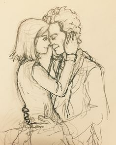 A Whouffaldi drawing I have yet to finish because I have so many other drawings I haven't finished  Seriously there are *so* many things I want to draw. I haven't gotten to try drawing 11 and I really wanna do it.