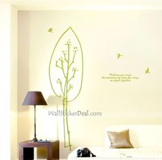 Shelter Tree And Birds Wall Stickers