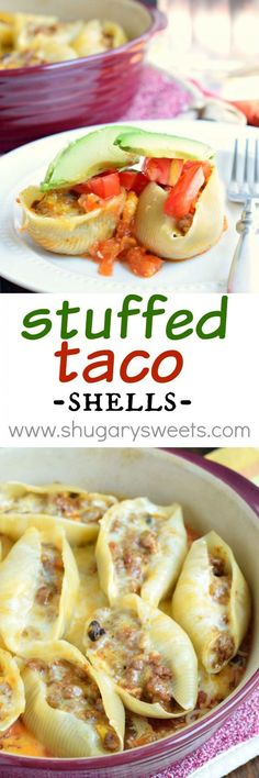 If you love easy, delicious dinner ideas, these Stuffed Taco Shells are for you!:
