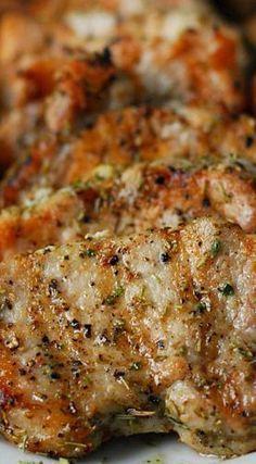 Garlic Rosemary Pork Tenderloin by thegunnysack #Pork_TenderoIn #Garlic #Rosemary