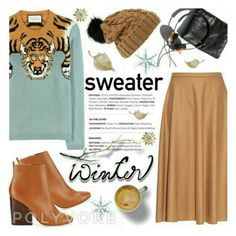 """Sweater weather"" by melaniw ❤ liked on Polyvore"