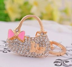 Dior purse bag charm keychain