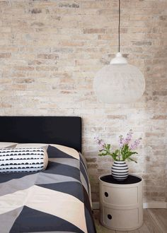Nice combination of Ferm Living cushion and bedcover and Kartell Componibili Home Bedroom, Bedroom Wall, Bedroom Decor, Budget Bedroom, Bedroom Ideas, Bedroom Hacks, Bedroom Interiors, Master Bedrooms, Bedroom Inspiration
