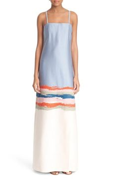 Tory Burch 'Painterly' Strapless Jacquard Gown available at #Nordstrom