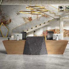 Modern Reception Desk, Reception Table Design, Reception Counter, Reception Desk Height, Reception Backdrop, Office Reception, Commercial Office Design, Modern Office Design, Office Furniture Design
