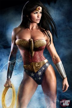From artist Jeff Chapman comes a masterwork of photoshop where he's expertly assembled a trillion pixels into one of the best renditions of Wonder Woman, living or otherwise, I've ever seen.