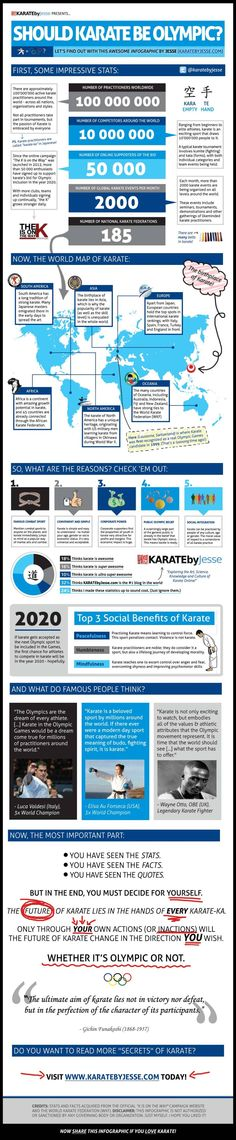 Olympic Karate Infographic